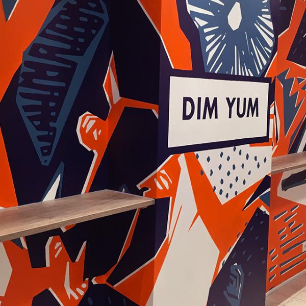 motif mural du restaurant